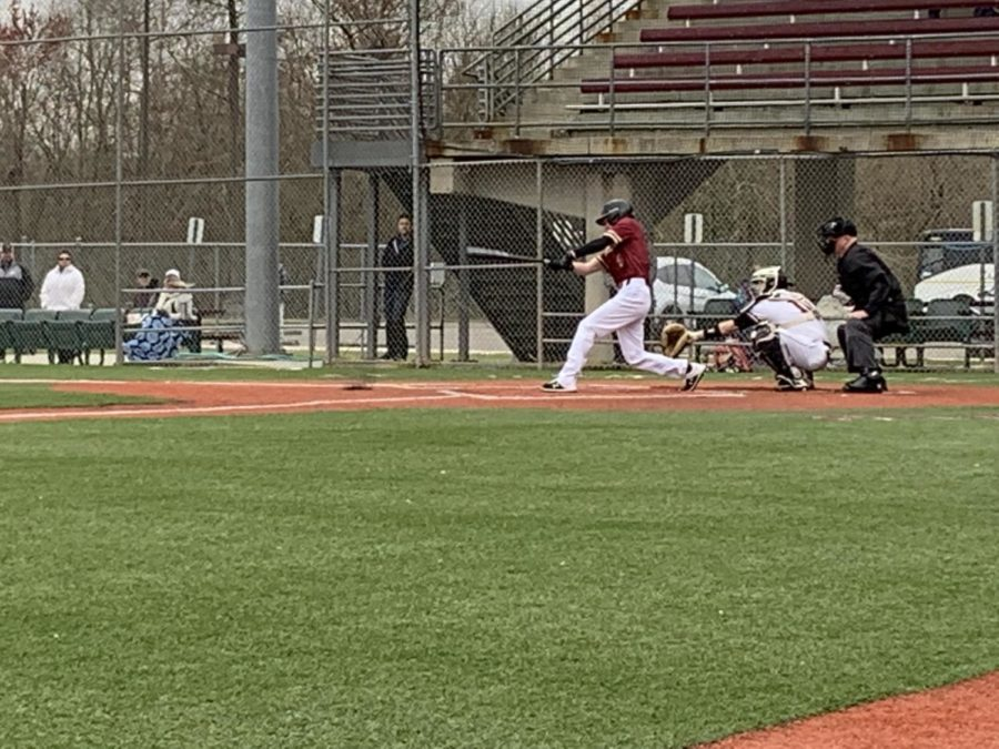 Business+sophomore+Zachary+Cook+would+finish+the+series+hitting+3-11+with+1+RBI+from+the+walk+off+run+in+Game+3.+Photo+credit%3A+Andrew+Wellmann