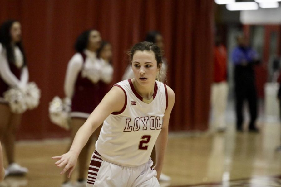 Mathematics+sophomore+Presley+scored+a+career-best+in+both+points+and+three-pointers.+She+scored+22+points+with+six+three+balls+to+go+along+with+two+rebounds%2C+two+assists+and+a+steal+while+coming+off+the+bench.+Photo+credit%3A+Andres+Fuentes