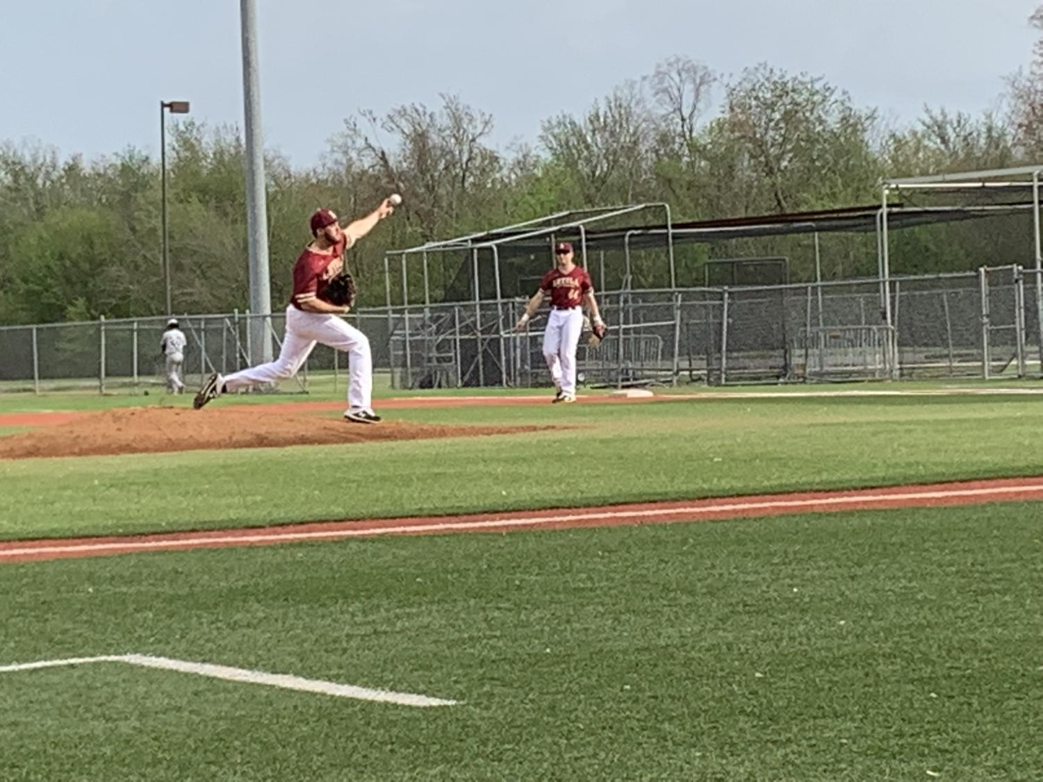 A Loyola pitcher on the mound for the Rust College series at Segentte Field. Photo credit: Andrew Wellmann