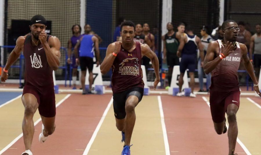 Computer+information+systems+junior+Jarrett+Richard+set+the+tone+early+for+the+Wolf+Pack%2C+shattering+the+school+record+in+the+200-meter+dash+with+a+time+of+22.27+Photo+credit%3A+Loyola+New+Orleans+Athletics