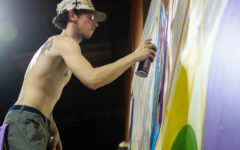 Loyola student makes his mark on local mural