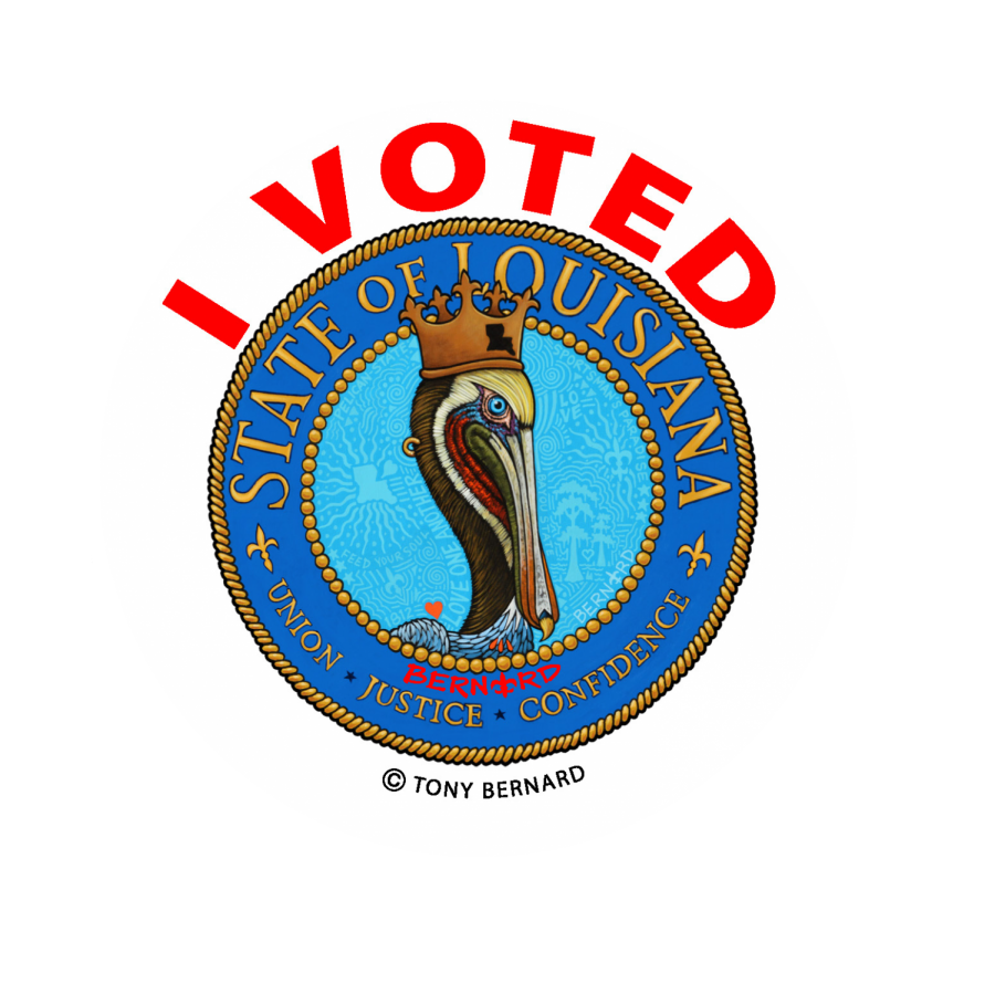 Louisiana%27s+new+sticker+design+was+inspired+by+the+state+seal.+Stickers+will+be+handed+out+to+voters+in+the+upcoming+elections.
